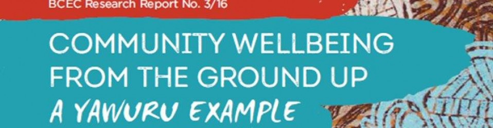Community Well-Being From the Ground Up: a Yawuru Example